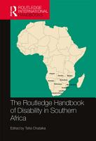 The Routledge Handbook of Disability in Southern Africa PDF