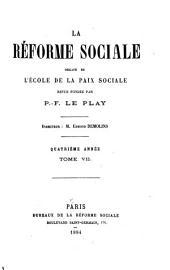 La Réforme sociale: Volume7