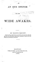 An Eye Opener for the Wide Awakes PDF