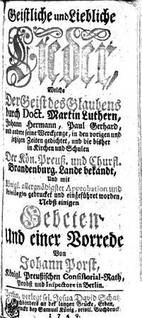 Geistliche und Liebliche Lieder PDF