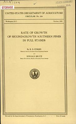 Rate of Growth of Second growth Southern Pines in Full Stands