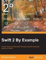 Swift 2 By Example PDF