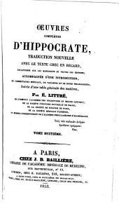 Oeuvres complètes d'Hippocrate: Volume6