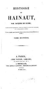 Histoire de Hainaut: Volumes8à9