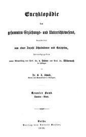 Encyklopädie des gesammten Erziehungs- und Unterrichtswesens: Spanien - Vives, Band 9