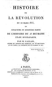 Histoire de la revolution du 20 mars 1815