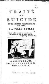 Traité du suicide, ou du meurtre volontaire de soi-même