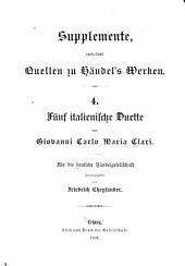 Supplemente, enthaltend Quellen zu Händel's Werken: Volume 4