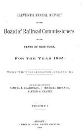 Annual Report of the Board of Railroad Commissioners of the State of New York: Volume 1