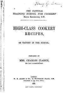 High class Cookery Recipes PDF