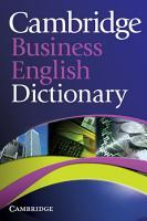 Cambridge Business English Dictionary PDF
