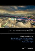 The Wiley Handbook of Psychology  Technology  and Society PDF