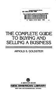 The Complete Guide to Buying and Selling a Business PDF