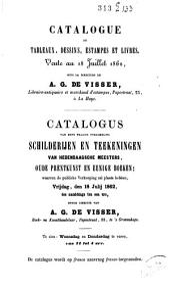 Boekveilingcatalogus, 18 juli 1862