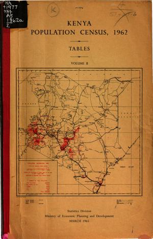 Kenya Population Census  1962  Tables PDF