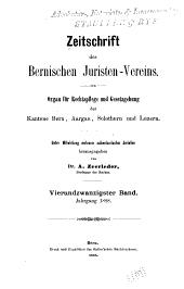 Revue de la Société des juristes bernois: Volume24