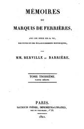 Mémoires: Volume3