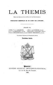 La Thémis: revue de législation, de droit et de jurisprudence, Volume3