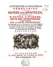 Letterlyke en practikale verklaring over de Handel: der apostelen: Volume 1