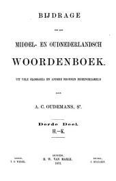 Bijdrage tot een Middel- en Oudnederlandsch woordenboek: Uit vele glossaria en andere bronnen bijeengezameld, Deel 3