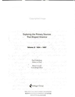 Milestone Documents in American History-Vol. 2