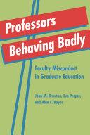 Professors Behaving Badly