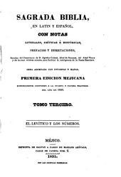 Sagrada Biblia: en latin y español, con notas literales, críticas é históricas, prefacios y disertaciones, sacadas, Volumen 3