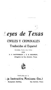 Leyes de Texas, civiles y criminales