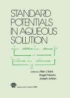 Standard Potentials in Aqueous Solution PDF