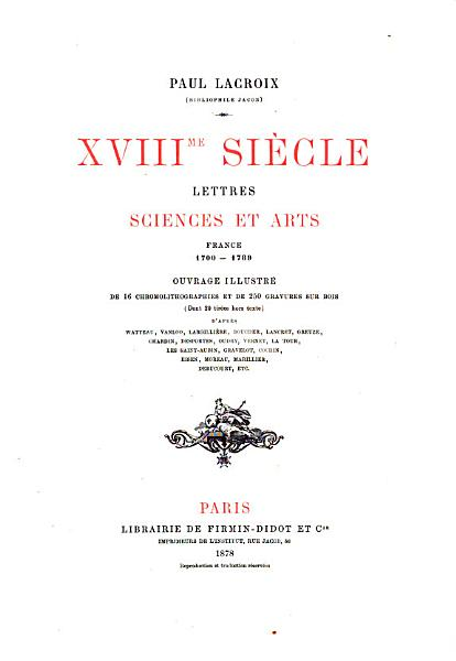 Download XVIII Siecle  Lettres  Sciences Et Arts  France 1700 1789 Book