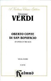Oberto, Conte di San Bonifacio: Vocal (Opera) Score
