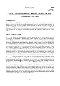 OECD Guidelines for the Testing of Chemicals  Section 4 Test No  428  Skin Absorption  In Vitro Method PDF