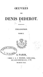 Oeuvres de Denis Diderot: Volume1