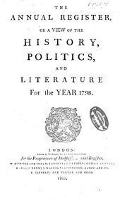Annual Register: Volume 40