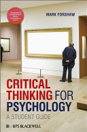 Critical Thinking For Psychology