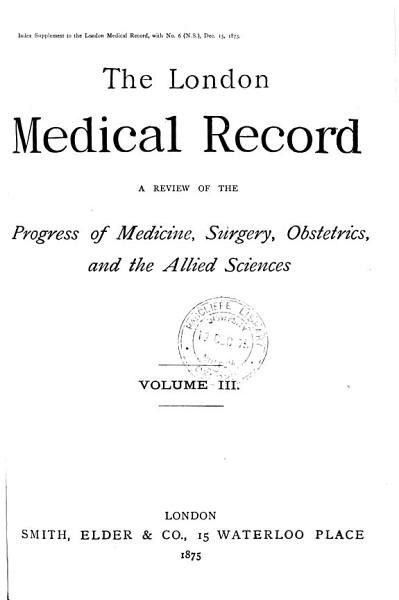 Download The London Medical Record Book