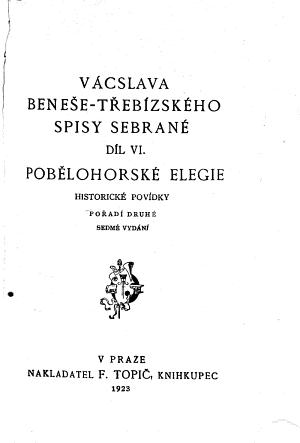 Spisy sebran    Pob  lohorsk   elegie  Po  ad   2  7 vyd PDF