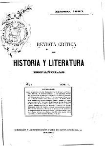 Revista cr  tica de historia y literatura espa  olas PDF
