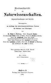 Zeitschrift für Naturwissenschaften: Bände 59-60