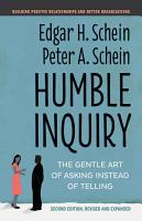 Humble Inquiry  Second Edition PDF