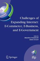 Challenges of Expanding Internet: E-Commerce, E-Business, and E-Government: 5th IFIP Conference on e-Commerce, e-Business, and e-Government (I3E'2005), October 28-30 2005, Poznan, Poland