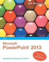 New Perspectives on Microsoft PowerPoint 2013  Brief PDF