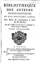 Bibliotheque des auteurs ecclesiastiques du 18. siecle: Volume3