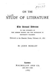 On the Study of Literature