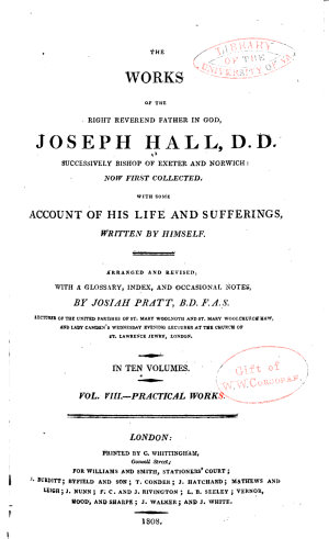 The Works of Joseph Hall  Practical works