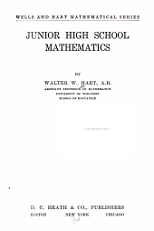 Junior High School Mathematics: Book 1