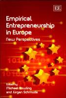 Empirical entrepreneurship in Europe PDF
