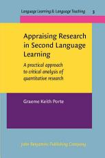 Appraising Research in Second Language Learning PDF