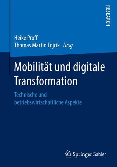 Mobilit  t und digitale Transformation PDF
