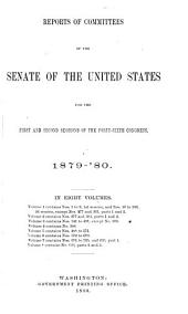 Reports of Committees: 30th Congress, 1st Session - 48th Congress, 2nd Session, Volume 3